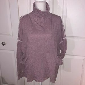 Free People Mauve Sweater w/ Collar, Front Pockets